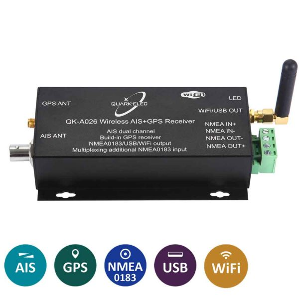 A026 WiFi GPS and AIS receiver with NMEA 0183 multiplexer